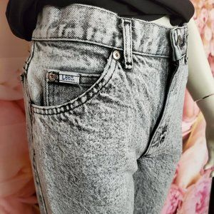 LEE VINTAGE ACID WASH GREY JEANS